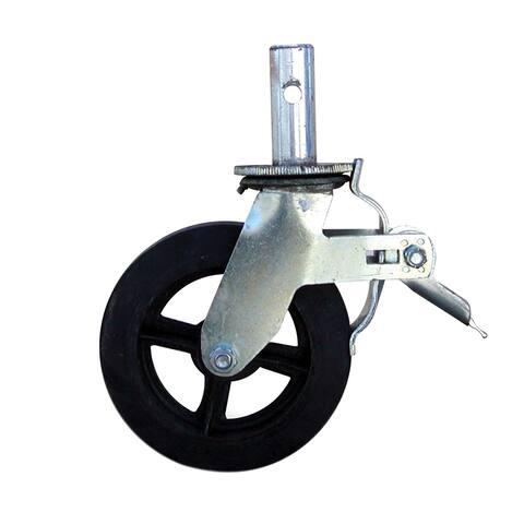 Offex 8 Inch Metal Dual Locking Foot Brake Heavy Duty Caster - Black