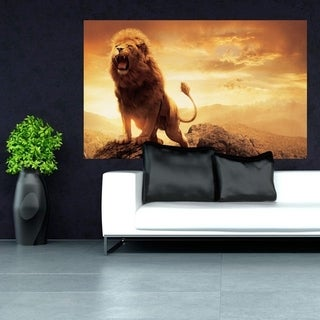 "Wildlife Lion Animals Full Color Wall Decal Sticker K-1209 FRST Size 30""x47"""