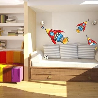 "Rocket Space Boys Full Color Wall Decal Sticker K-1226 FRST Size 30""x47"""