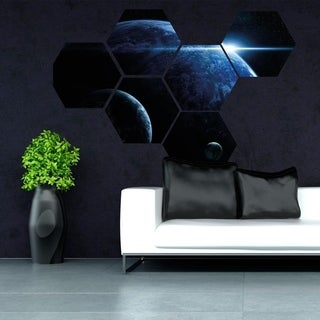 """Planet Space Moon Full Color Wall Decal Sticker K-1227 FRST Size 46""""x56"""""""
