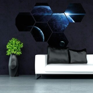 "Planet Space Moon Full Color Wall Decal Sticker K-1227 FRST Size 52""x65"""