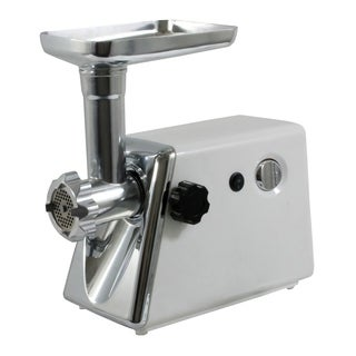 Offex 350 Watt Electric Meat Grinder with 3 Cutting Plates - White