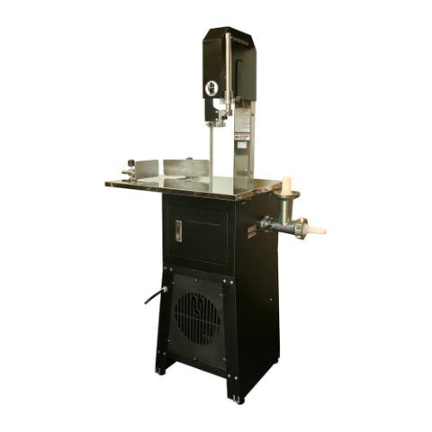 Offex Metal Electric Meat Cutting Band Saw and Grinder - Black