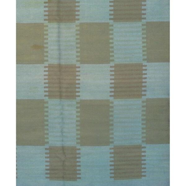"Pasargad DC Scandinavian Design New Zealand Overdyed Wool Rug - 7′3″ × 9'9"""