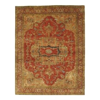 Pasargad NY Handmade Serapi Design Red Wool Rug
