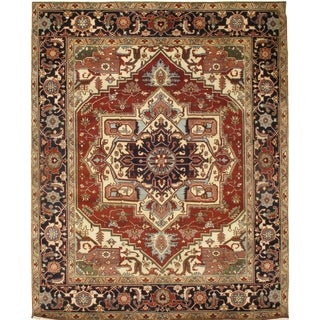 Pasargad DC Indo Serapi Hand-Knotted Rug - 8' x 9'11""