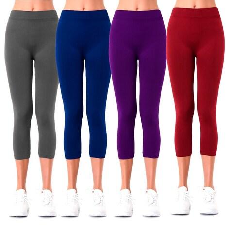 Sofra Ladies Polyester Capri Leggings