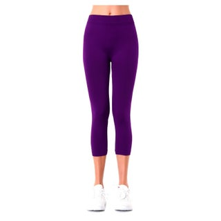 Sofra Ladies Polyester Capri Leggings