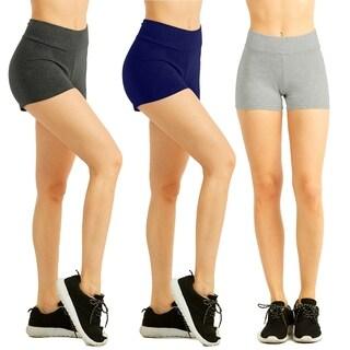 "Sofra Ladies Cotton 12"" Outseam Shorts W/ High Waistband"