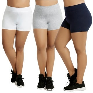 "Sofra Ladies Cotton 12"" Outseam Shorts Plus Size"
