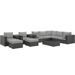 Stopover 10 Piece Outdoor Patio Sunbrella® Sectional Set