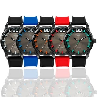 M Milano Expressions Rubber Strap Watch 44281