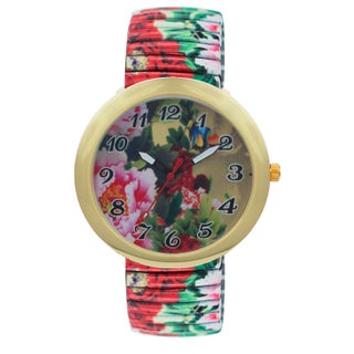 Flower Print Flex Band Watch 43032