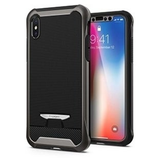 Spigen Reventon Case w/ Tempered Glass for Apple iPhone X - Gunmetal - Retail Packaged