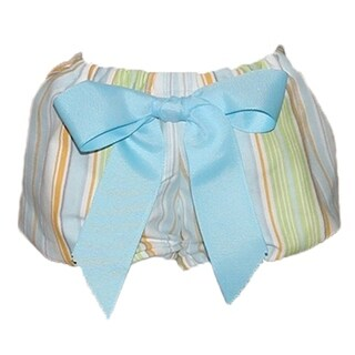 Big Bow Diaper Cover, Blue Stripe with 2 Bows