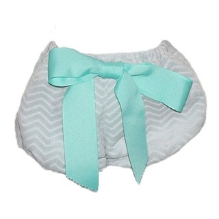 Big Bow Diaper Cover, Gray Chevron with 2 Bows