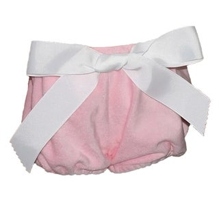 Big Bow Diaper Cover, Pink Plush with 2 Bows