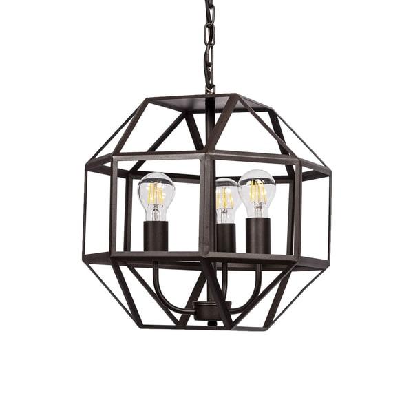 3-light Cage Pendant