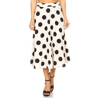 Women's Polka Dot Larger Pattern Skirt