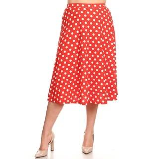 Women's Plus Size Polka Dot Skirt