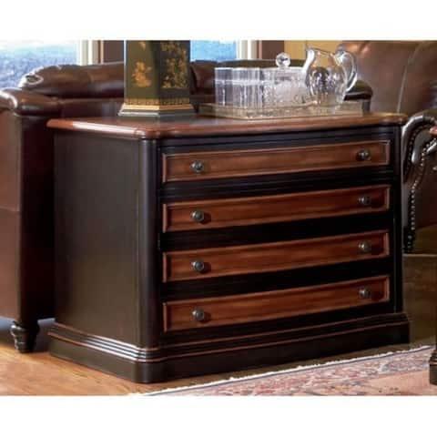 Dual Toned Substantial File Cabinet, Espresso