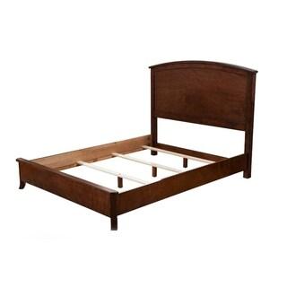 Vintage Mahogany Solids & Veneer Cal. King Panel Bed, Brown