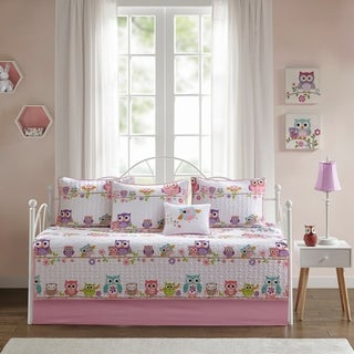 Mi Zone Kids Noctural Nellie Pink 6 Piece Reversible Daybed Set