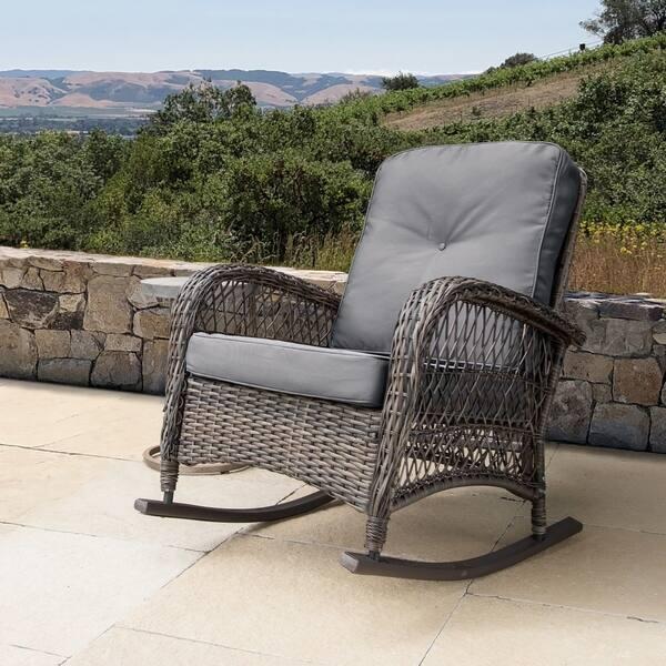 Cool Shop Corvus Salerno Outdoor Wicker Rocking Chair With Unemploymentrelief Wooden Chair Designs For Living Room Unemploymentrelieforg