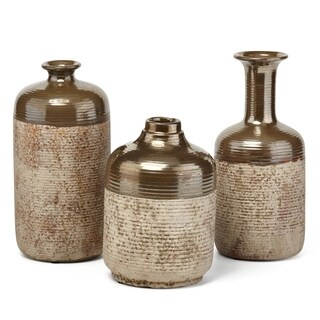 Gorgeous Ceramic Vases Brown (Set Of 3)