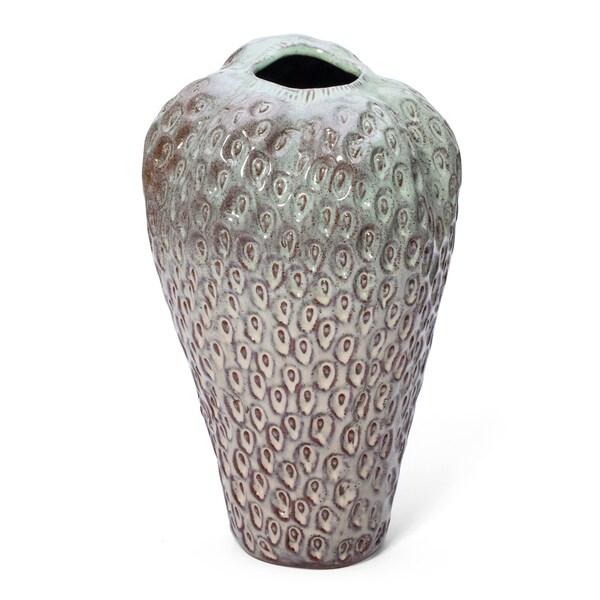 Alluring Large Strawberry Ceramic Vase, Gray