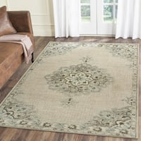 LR Home Hand Tufted Modern Traditions Heirloom Ivory Wool/ Cotton Rug - 8' x10'