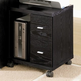 Smartly Organised CPU Stand With Two Drawers, Black