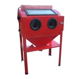 Black Bull Vertical Blast Cabinet - Red