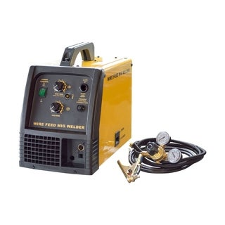 Offex Metal Automotive 140 Amp MIG 120V Welder - Yellow, Black - YELLOW