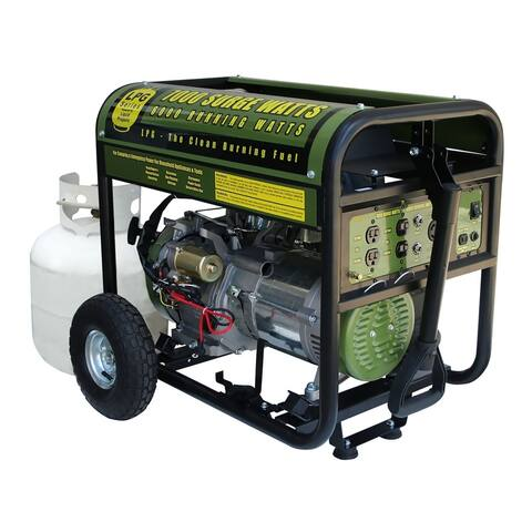 Offex Propane 7000 Watt Portable Electric Start Generator - Green