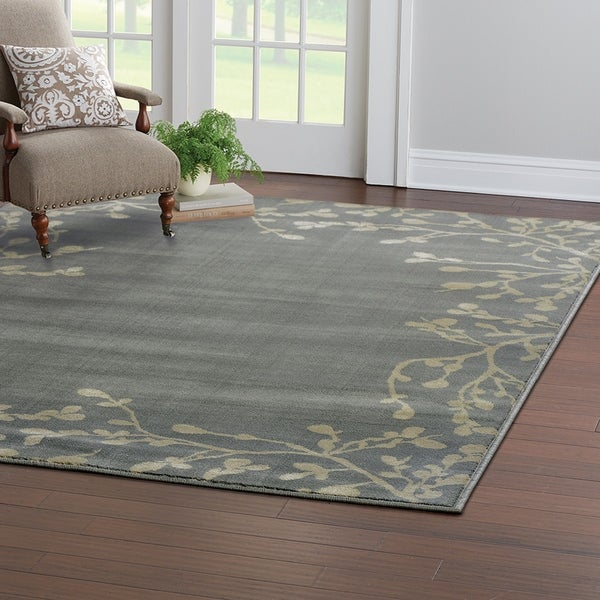 Natural Vine Blue/Beige Area Rug