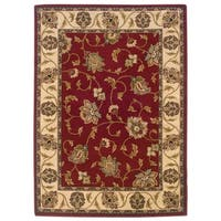 Style Haven Elegant Florals Red/Ivory Area Rug - 9'10 x 12'9