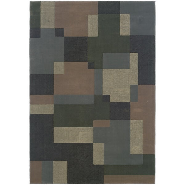 """Style Haven Oceanic Tone Blue Area Rug - 7'10"""" x 11'"""