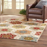 Style Haven Stylish Medallion Ivory/Multicolor Area Rug - 7'10 x 10'