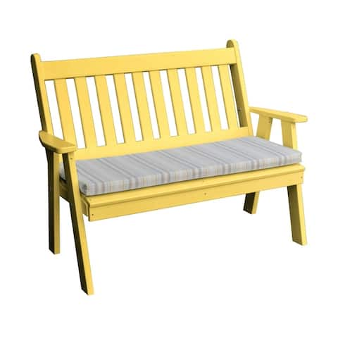 5' Poly Traditional English Garden Bench in Poly Lumber