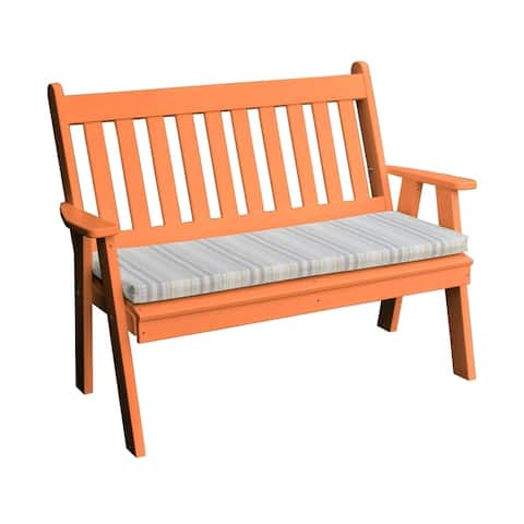4' Traditional English Garden Bench in Poly Lumber
