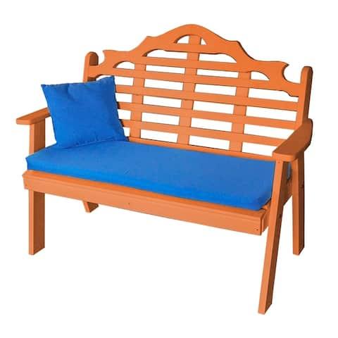 4' Marlboro Garden Bench in Poly Lumber