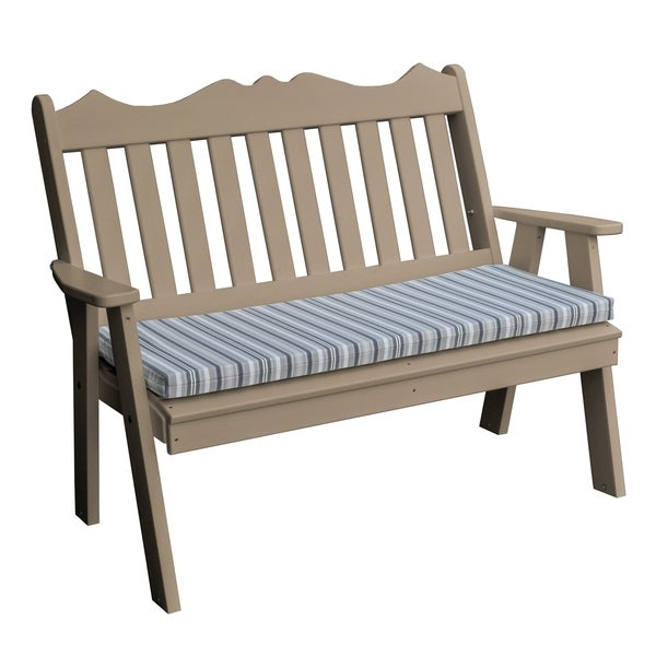 4' Poly Royal English Garden Bench in Poly Lumber. Opens flyout.