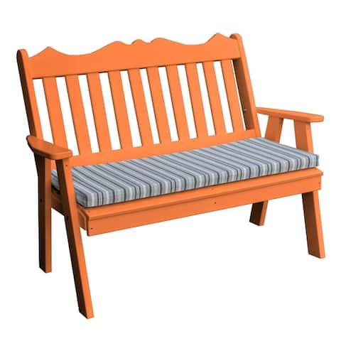 4' Poly Royal English Garden Bench in Poly Lumber