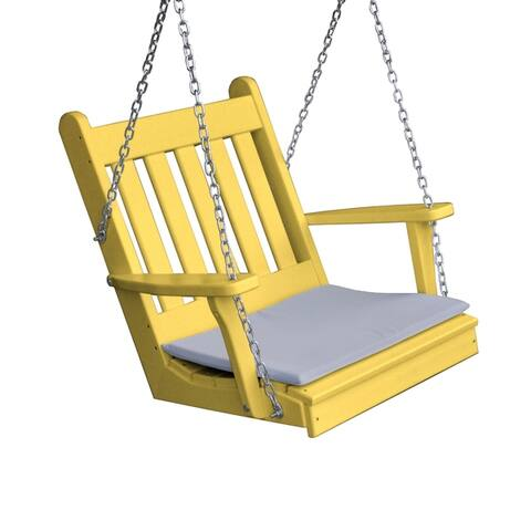 Traditional English Chair Swing in Poly Lumber
