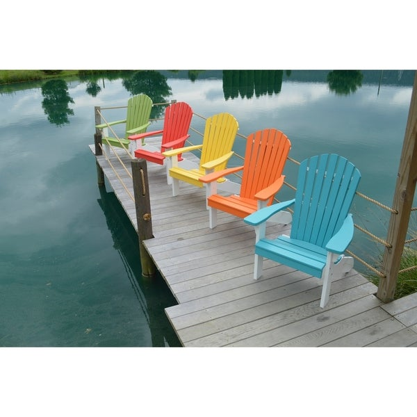 Poly Fanback White Recycled Plastic Adirondack Chair