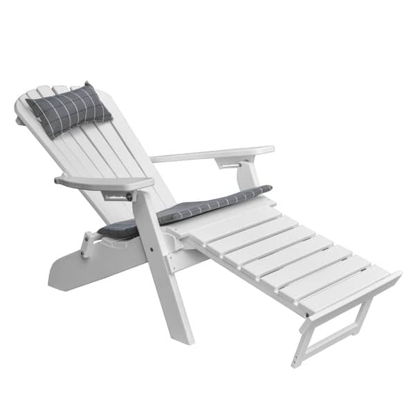 Pleasant Shop Folding Reclining Adirondack Chair With Pullout Ottoman Machost Co Dining Chair Design Ideas Machostcouk