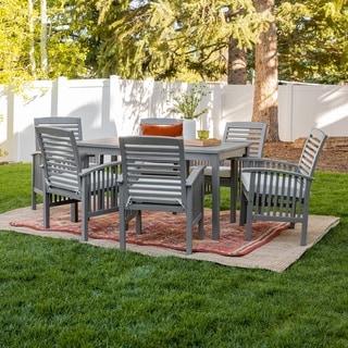 Havenside Home Surfside 7-piece Acacia Outdoor Dining Set