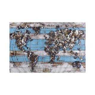 Metallic Atlas Metal Wall Art