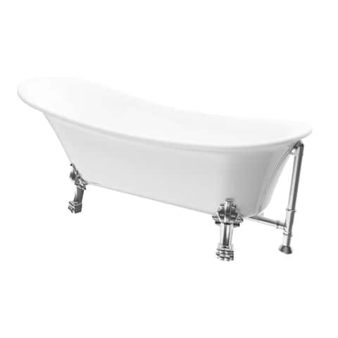 """A&E Bath and Shower Dora 60"""" Freestanding Tub No faucet"""